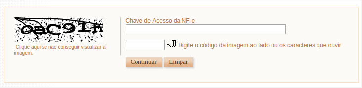 Consulta de XML na Sefaz utilizando o captcha