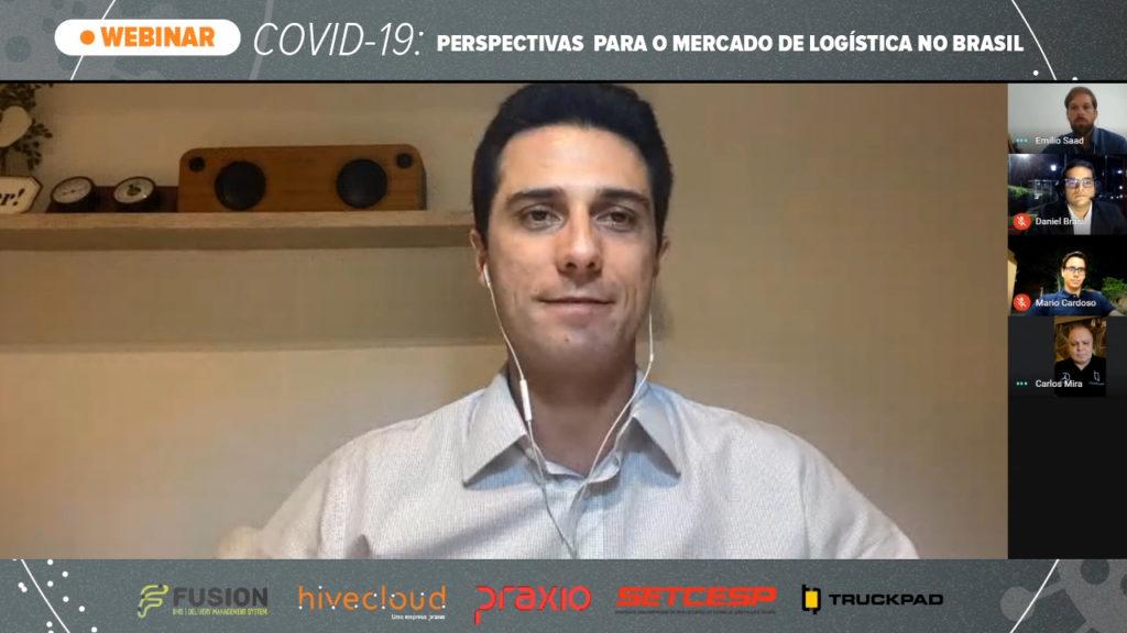 participantes no webinar de logística da Hivecloud