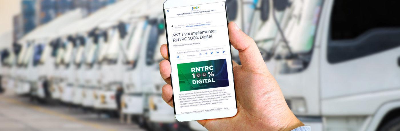 RNTRC Digital: Como funciona o novo sistema da ANTT