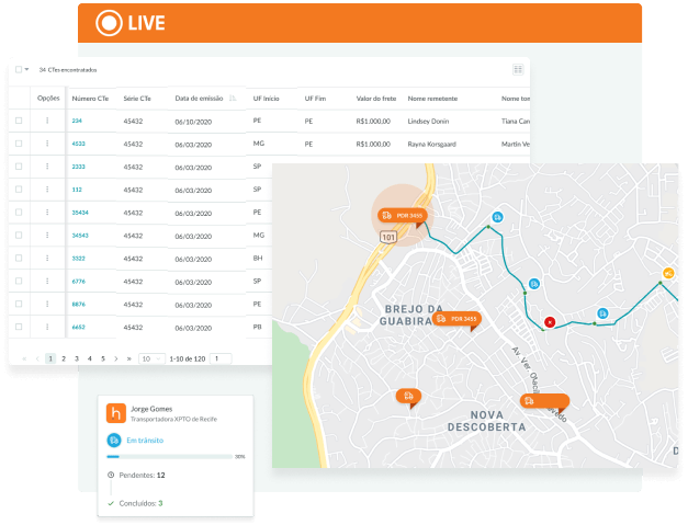 Live | Rastreamento de carga e monitoramento
