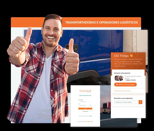 Simplifique a<br /> operação logística da<br /> sua transportadora